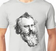 brahms drawing in black on white Unisex T-Shirt