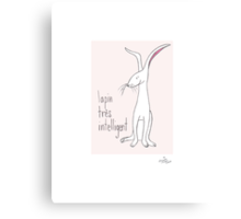 A Very Clever Bunny Canvas Print
