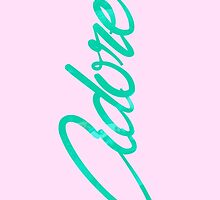 Pink/Green Adore Phone Case by thirdwardtrill