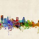 Baltimore Maryland Skyline Cityscape by ArtPrints
