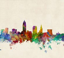 Cleveland Ohio Skyline Cityscape by ArtPrints
