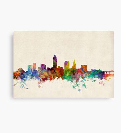 Cleveland Ohio Skyline Cityscape Canvas Print