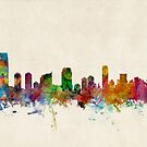 Jersey City New Jersey Skyline by ArtPrints