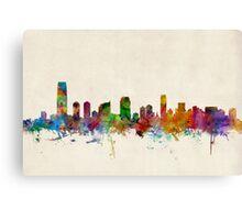 Jersey City New Jersey Skyline Canvas Print