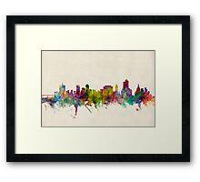 Tulsa Oklahoma Skyline Cityscape Framed Print