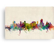 Tulsa Oklahoma Skyline Cityscape Canvas Print