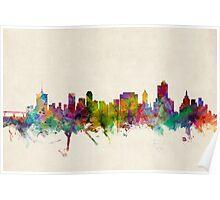 Tulsa Oklahoma Skyline Cityscape Poster