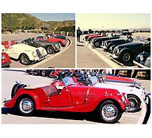 COLLAGE OF CLASSIC AND SPORT CAR RALLY SAN FRANCISCO Photographic Print