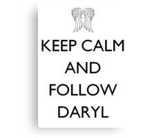 The Walking Dead - Follow Daryl Canvas Print