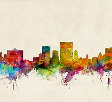 El Paso Texas Skyline Cityscape by ArtPrints