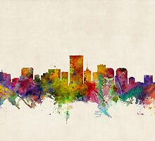 Richmond Virginia Skyline Cityscape by Michael Tompsett