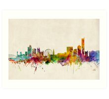 Manchester England Skyline Cityscape Art Print