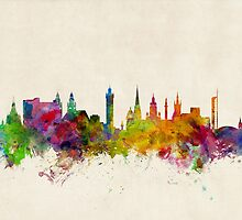 Glasgow Scotland Skyline Cityscape by Michael Tompsett