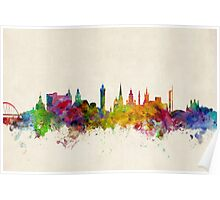 Glasgow Scotland Skyline Cityscape Poster