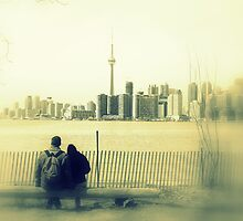 Toronto Blurry Romance in Yellow by Valentino Visentini