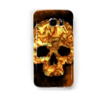 Orange Flame Skull Samsung Galaxy Case/Skin