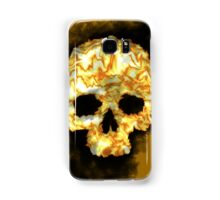 Yellow Flame Skull Samsung Galaxy Case/Skin