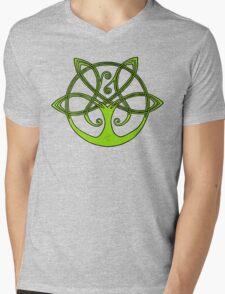 Tree of Life - Green with Black Border Mens V-Neck T-Shirt