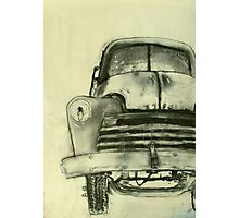 old truck charcoal Photographic Print