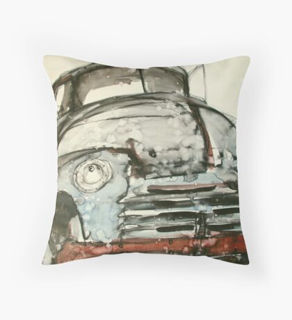 old truck ink Throw Pillow