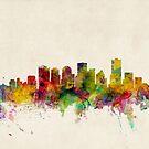 Edmonton Canada Skyline Cityscape by Michael Tompsett