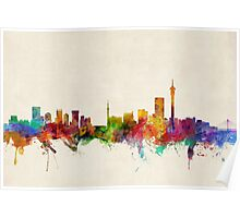 Johannesburg South Africa Skyline Poster