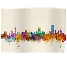 Pretoria South Africa Skyline Poster