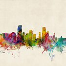 Miami Florida Skyline Cityscape by ArtPrints