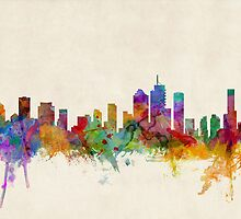 Brisbane Australia Skyline Cityscape by ArtPrints