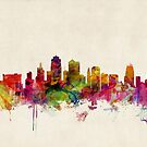 Kansas City Skyline Cityscape by ArtPrints