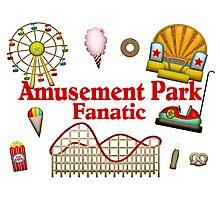 Amusement Park Fanatic Photographic Print