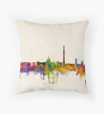 Washington DC Skyline Skyline Throw Pillow