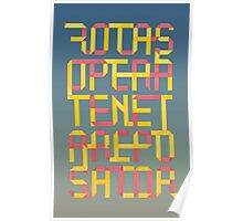 Rotas square origami Poster