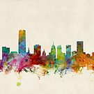 Oklahoma City Skyline Cityscape by ArtPrints