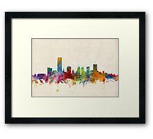 Oklahoma City Skyline Cityscape Framed Print