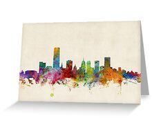 Oklahoma City Skyline Cityscape Greeting Card
