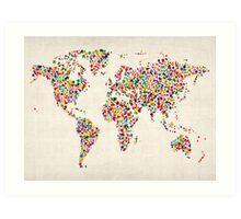 Stars Map of the World Map Art Print