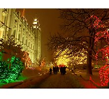 Christmas, Salt Lake City Photographic Print