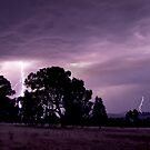 Lightning Over San Isidore by Cole Stockman