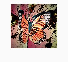 Autumn butterfly graphic Womens Fitted T-Shirt