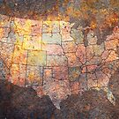 United States of America Map by ArtPrints