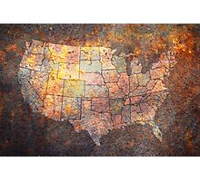 United States of America Map Photographic Print