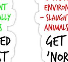 Open Your Eyes - Go Vegan! Sticker