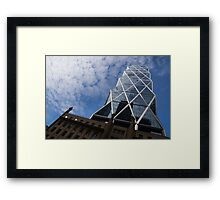 Lines, Triangles and Cloud Puffs - Hearst Tower in New York City Framed Print
