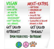 Open Your Eyes - Go Vegan! Poster