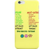 Open Your Eyes - Go Vegan! iPhone Case/Skin