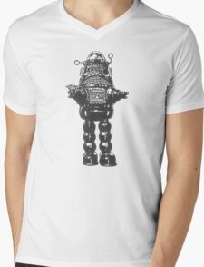 Forbidden Planet, Robot, Space, Science Fiction, Robby The Robot Mens V-Neck T-Shirt