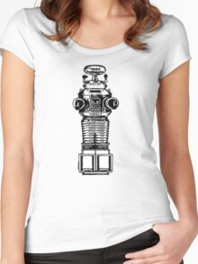 Lost In Space, Robot, Space, Science Fiction, Planets Women's Fitted Scoop T-Shirt