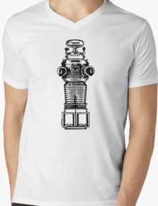 Lost In Space, Robot, Space, Science Fiction, Planets Mens V-Neck T-Shirt