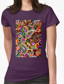 purple rose explosion  Womens Fitted T-Shirt
